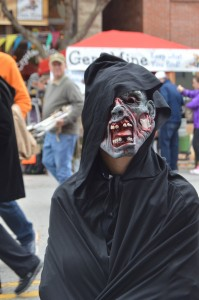 A Scary Zombie at the Halloween Festival.