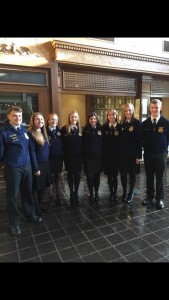 Brevard FFA members pose for a group photo while at the National FFA Convention in Indianapolis.