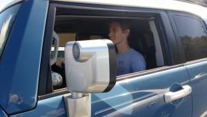Junior Noah Housman  enjoys a drive.