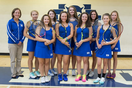 The Lady Devils' tennis team.
